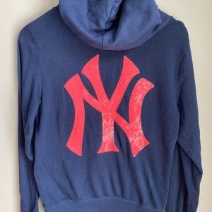 Victoria Secret PINK NY Yankees Hooded Sweatshirt